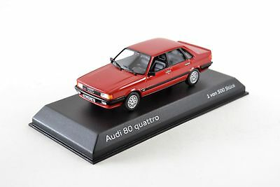 Audi 80 Quattro Saloon, Red, 1:43 ''Limited to 500 Pieces ""