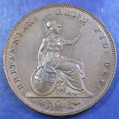 1853 ¼d Victoria Young Head Farthing - rare variety: WW incuse, inverted Vs