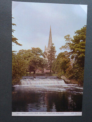Vintage British Postcard - Holy Trinity Church, Stratford
