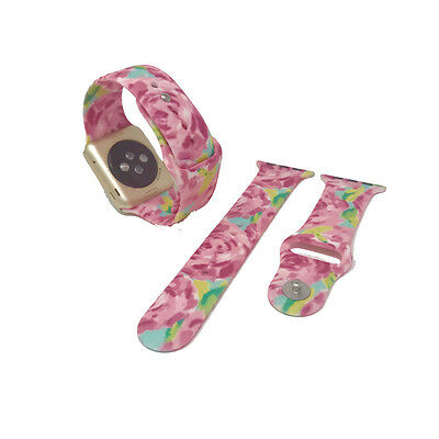 Replacement Band for 42mm Apple Watch - Lilly Inspired Print - Roses