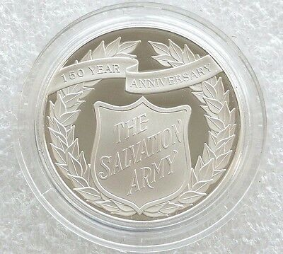 2015 Salvation Army £5 Five Pound Silver Proof Coin Box Coa - Mintage 1,500