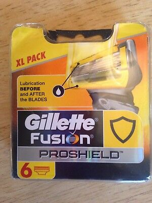 gillette fusion proshield XL pack of 6 blades new and unopened