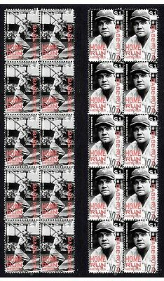 Babe Ruth New Yor Yankees H/run Heroes Mint Stamps 1