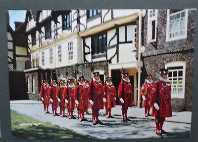 Vintage British Postcard - Yeomen Warders On Parade