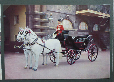 Vintage British Postcard - Royal Barouche Carriage