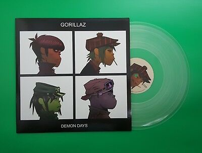 "GORILLAZ - DEMON DAYS - Clear Vinyl 2x LP 12"" - Damon Albarn, Blur"