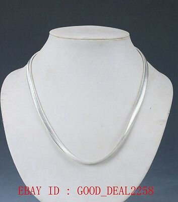 Chinese silverHand-carved  necklace XL025