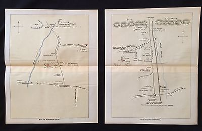 1896 color maps Pennsylvania FRONTIER FORTS French Indian War SWATARA HESS BLOCK