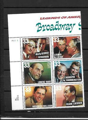 Usa  Superbe Serie Neuve Broadway Song Writers Usa205