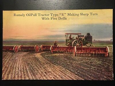 Oil Advertising Postcard - Rumely Oil Pull Tractor Laporte, Indiana - Unposted