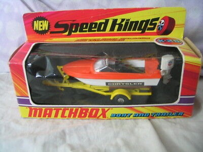 Matchbox Lesney K-25 Speed Kings Boat and Trailer
