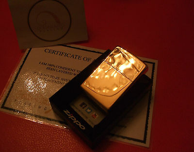 24Ct Gold Plated Zippo Petrol Flip Top Cigarette Refillable Lighter Gift Boxed