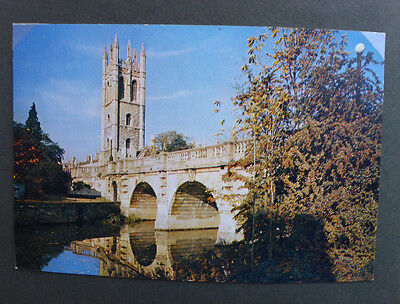 Vintage British Postcard - Magdalen Tower & Bridge, Oxford