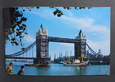 Vintage British Postcard - Tower Bridge, London