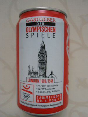 Coca Cola Olympia London 1908 1948 Dose BRD (1992) 0,33l No. 4 / 19 Can Germany