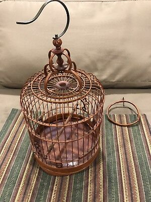 Vintage Chinese Decorative Bamboo Bird Cage