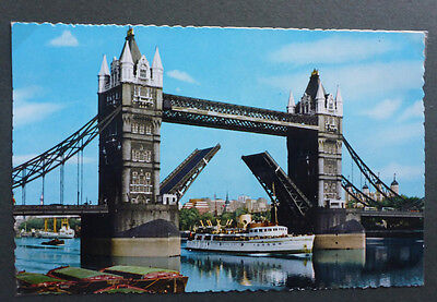 Vintage British Postcard - Tower Bridge, London #2