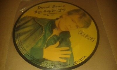 David Bowie  'Boys Keep Swinging'   ULTRA RARE 1978 SPANISH PIC DISC 7""