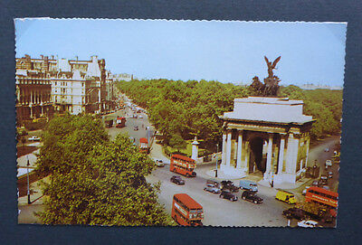 Vintage British Postcard - Hyde Park Corner, London