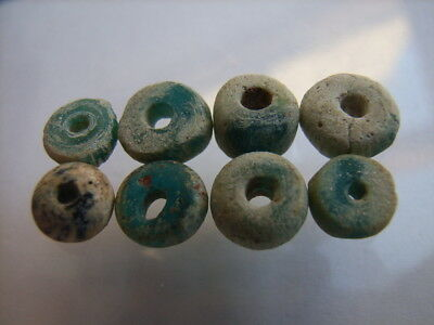8 Ancient Egyptian Glass Beads, Egypt VERY RARE!