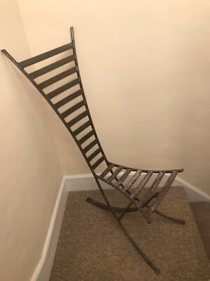 Handmade, bespoke wrought iron chair