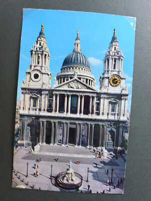 Vintage British Postcard - St Pauls Cathedral, London
