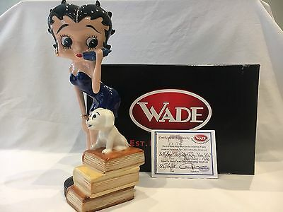 Very Rare Wade Special Betty Boop Blue Called To Say I Love U 10 Inch Ltd 20