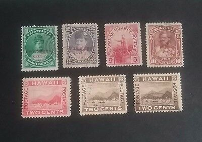 Hawaii 1884 - 1889 stamps used