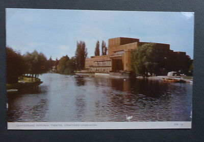 Vintage British Postcard - Shakespeare Memorial Theatre, Stratford
