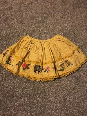 Next Girls Mustard Skirt 6-9 Months