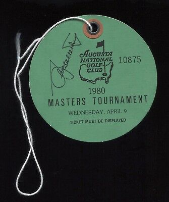 Seve Ballesteros Signed 1980 Masters Badge Practice Round Autographed Golf