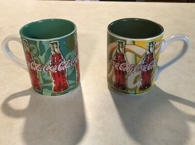 2 coca-cola coffee cups/mugs with handle from the gibson compact