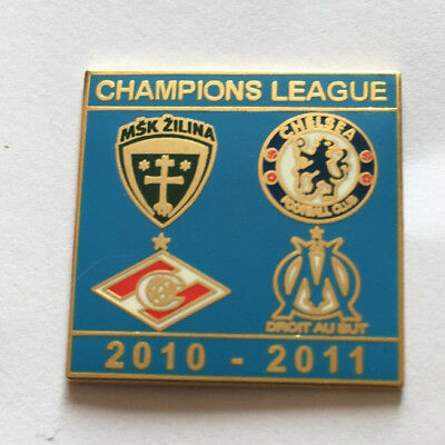 Superbe Pin's OM OLYMPIQUE MARSEILLE CHAMPIONS LEAGUE 2010-2011 CHELSEA ZILINA