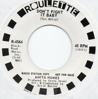 "Classic Northern Soul ANITA HUMES ""Don't Fight It Baby"" Roulette DJ!"