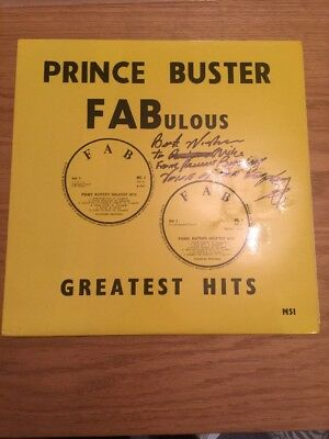 Prince Buster Fabulous Greatest Hits Signed LP