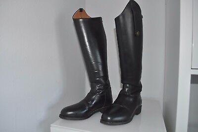Just Togs Leather Tall horse riding boots size UK 5  FULL REAR ZIP LADIES