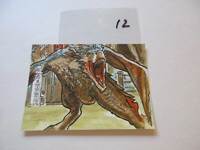 Game of Thrones Valyrian Steel Color Sketch Card by Dan Gorman - 12