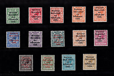 Ireland 1922 Optd Gv Set Mh Cv £110