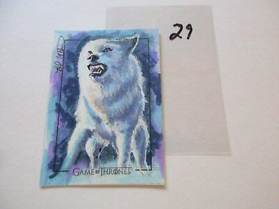 Game of Thrones Valyrian Steel Color Sketch Card by Brad Utterstrom - 29