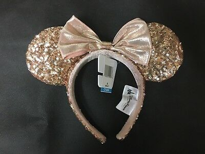 New! Rose Gold Disneyland Minnie Ears Pink - IN HAND