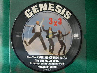 "Genesis-""paperlate"" Rare 7"" Ep Uk First Picture Disc 1982"