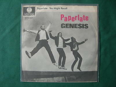"Genesis-""paperlate"" Rare 7""  Spanish First Pressing 1982 Spain"