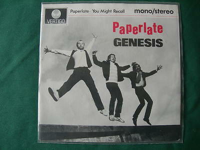 "Genesis-""paperlate"" Rare 7""  Dutch First Pressing 1982 Holland"