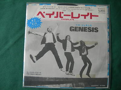 "Genesis-""paperlate"" Rare 7""japan First Pressing 1982 Unique P/s Mint-"