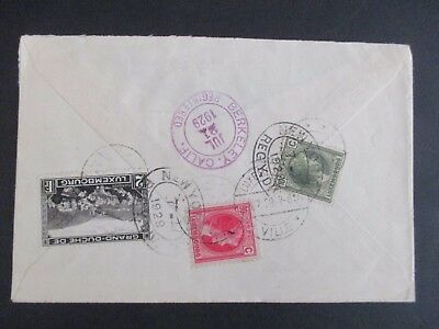 Luxembourg - 1929 Multiple Registered Cover To Usa - Fine
