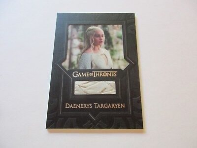 Game of Thrones Valyrian Steel Daenerys Targaryan Cape Relic Costume Card VR3