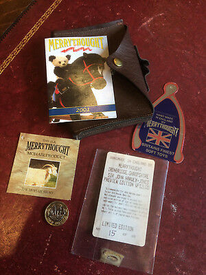 Merrythought Sir John Harvey Jones Ltd Edition Paperwork Ticket NO Teddy Bear