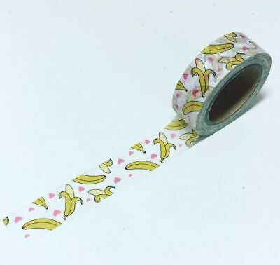 Banana washi tape, decorative tape * Free P&P