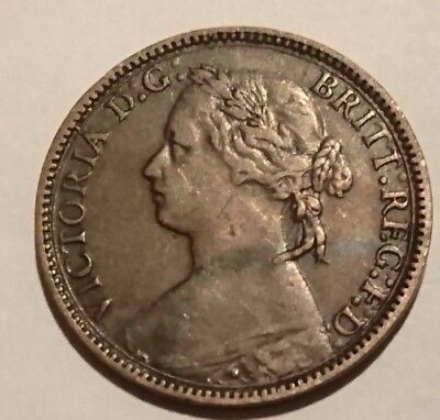 Queen Victoria 1875H - Heaton Mint Farthing in Lovely Condition