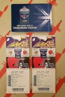 NFL tickets x 2 - Minnesota Vikings v Cleveland Browns - Twickenham